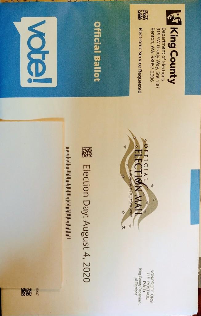 WA state mail in ballot.