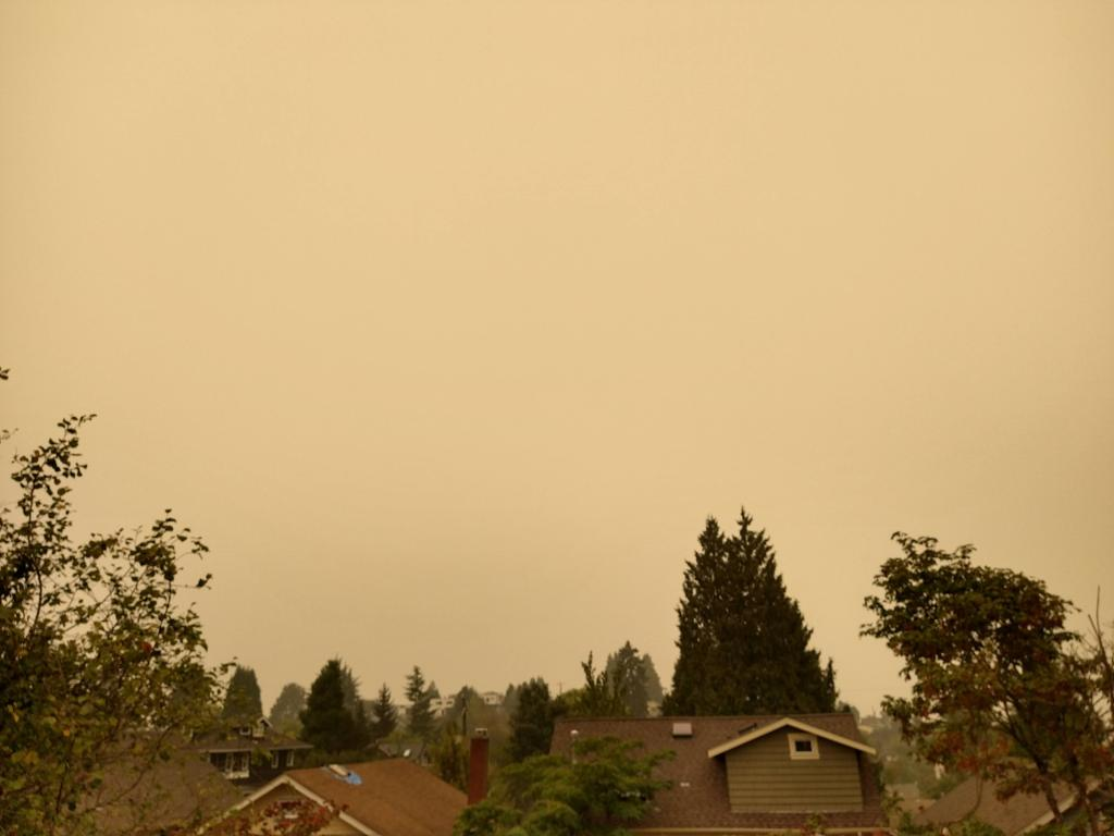 Picture of the forest fires from my residence in Seattle.