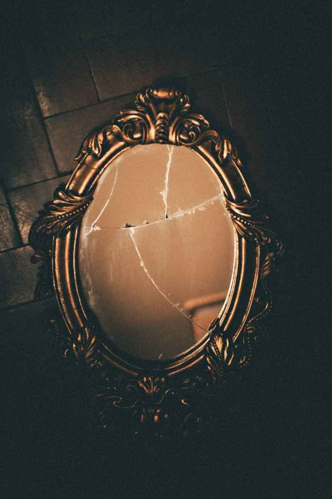 A broken mirror... A reflection of me right now.